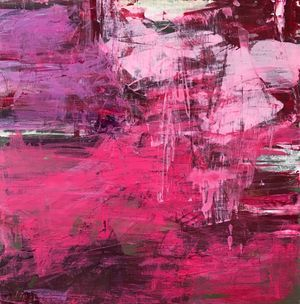 small deep pink abstract for accent
