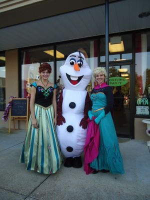 The Coronation Gowns and Favorite Snowman
