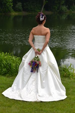 Bride by the lake picture