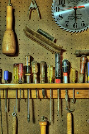 Wide variety of tools ane materials