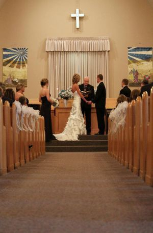 A classic church wedding