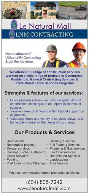 LNM Contracting offers a full range of construction services working on a wide range of projects in Commercial, Residential, General Contracting Services & Strata Maintenance Services Programs.