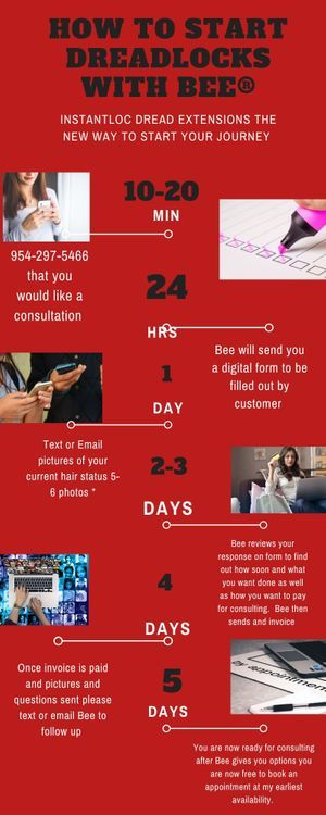 Braids By Bee does initial consultations for clients in need of repairs on there current dreadlocks or clients who wants to start dreadlocks with Braids By Bee.