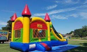Multicolor Castle Combo Bonce House 13'x30'