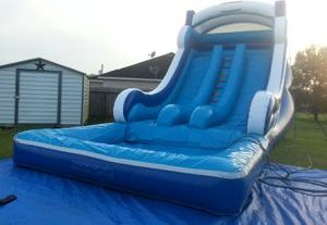 18'x30' Front Load double lane water slide