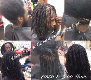 Micro Size Dreadlocks started on natural hair