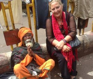 """<img src=""""australian womens travel.jpg alt=womens tours, mary sitting on the ground with a holy man,india """" india"""">"""