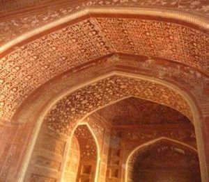 "<img src=""australian womens travel.jpg alt=womens tours, red stone archways in side buikdings at the Taj Mahal,Agra india "">"