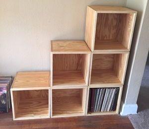 A set of vinyl record cubes