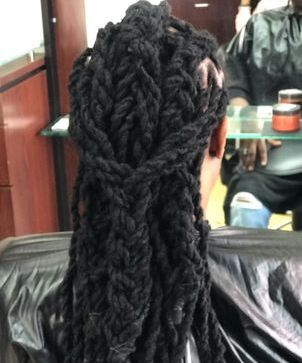 men clients can now skip the ugly stages and get dreadlocks perm