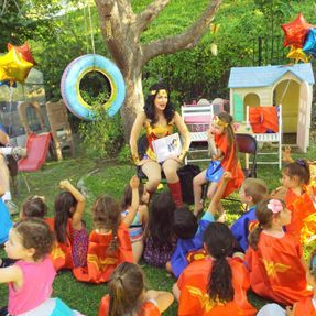 wonder woman story time kids party birthday ideas themes los angeles character