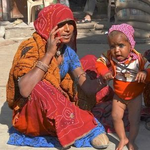 "src=""australian womens travel.jpg alt=womens tours,mother and baby, mandawa , India"
