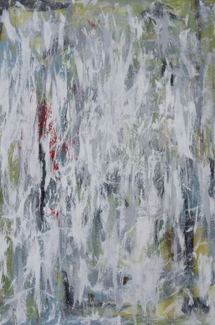 grey, green and white with a light touch of red . beautiful nature abstract.