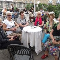 "<img src=""australian womens travel.jpg alt=womens tours,travel group having coffee at uffizi gallery cafe, florence, italy "">"