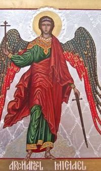An Old Picture of Archangel Michael
