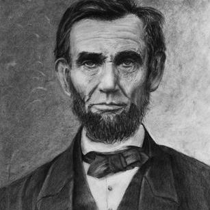 President Lincoln portrait art
