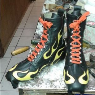 Custom Lather Motorcycle Boots by Ramirez Boot Shop