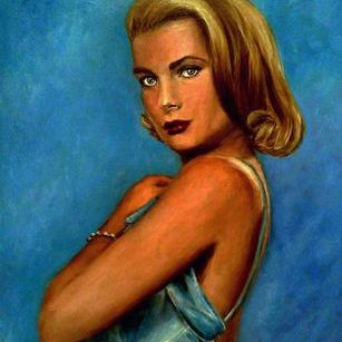 Grace Kelly portrait art