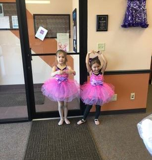 These dancers were so excited to get their dance performance costumes!