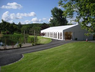 end of Long Wedding Marquee