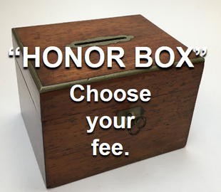 Honor Box for self-determined fees