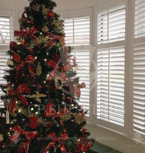 Another image of the Christmas tree infront of our shutters