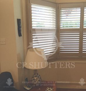Bespoke wooden shutters fitted in Southend, Essex by CP Shutters
