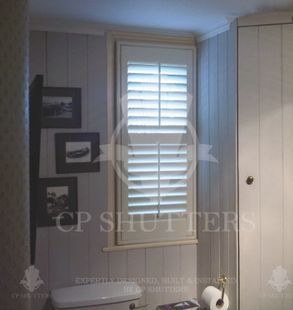 Shutters that are waterproof for use in Bathrooms, Essex, CP Shutters