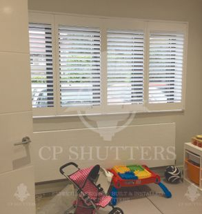 This playroom in Chelmsford Essex features our bespoke shutters.