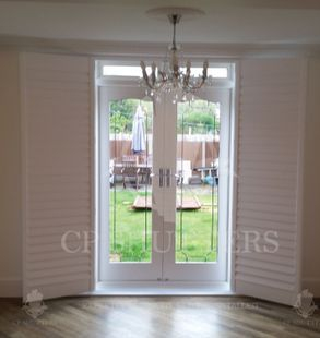 Wooden shutters built and installed by CP Shutters in Chelmsford Essex