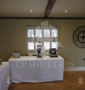 Our installers are highly skilled and trained to install our bespoke window Shutters, perfect 100% of the time. CP Shutters.