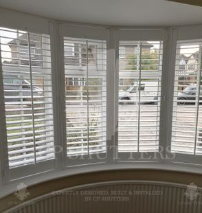 This is a curved bay featuring our bespoke shutters in Chelmsford Essex