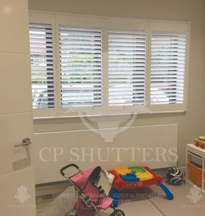 This playroom in Eseex suits our Seattle range of bespoke window shutters perfectly. Installed by CP Shutters.