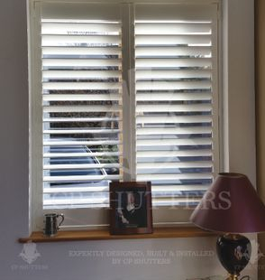 we only use the finest wood for our shutters