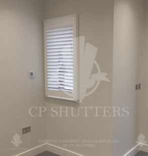 Wood Shutters featured in a project based in Chelmsford Essex by CP Shutters