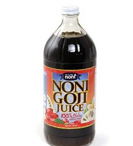 Noni & Goji Splendor Blend Juice - 32 oz    100% Noni Goji Juice  Get all the benefits of noni juice with the added nutrients of Goji berries. Goji juice is treasured by the Himalayan and Chinese as a great source of antioxidant vitamins, enriched minerals and nutrients that combined with noni help to detoxify the body, build up your immune system, increase energy and stamina, vitality, and improve blood health.