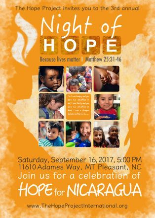 Night of Hope is our Annual fundraiser