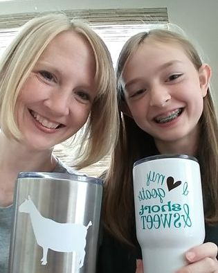 Mom and Daughter - loving our new cups!