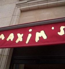 "src=""australian womens travel.jpg alt=womens travel,red and gold maxims awning , paris france """