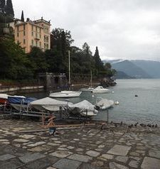 "ravel, boats in the bay, varenna, lake como, italy"">"