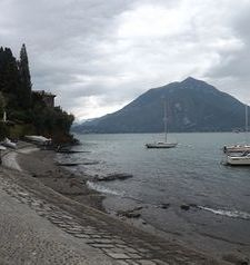 "ravel, looking across lake como from, varenna, italy"">"