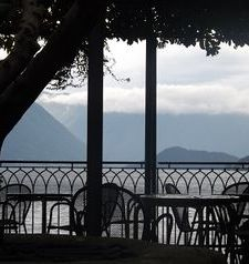 "ravel, view of lake como from hotel du lac, varenna, lake como, italy"">"