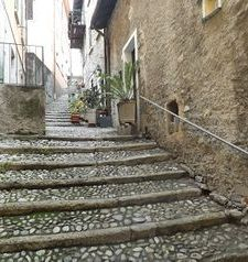 "ravel, stairway to main piazza, varenna, lake como, italy"">"