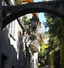 "ravel, archway on small street, varenna, lake como, italy"">"
