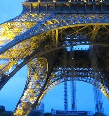 "src=""australian womens travel.jpg alt=womens travel,blue evening sky and eiffel tower , paris france """