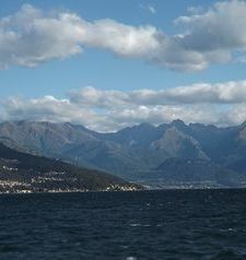"ravel, view of the alps, lake como, italy"">"