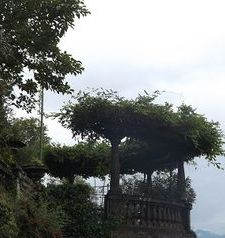 "ravel, arbour on the passarella, varenna, lake como, italy"">"