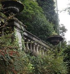"ravel, villa wall and greenery, varenna, lake como, italy"">"