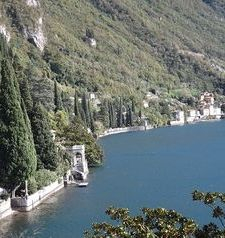 "ravel, looking down on lake como from villa monastero, varenna, lake como, italy"">"