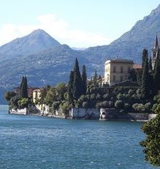 "ravel, looking back at villa, varenna, lake como, italy"">"